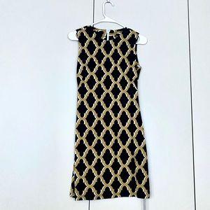 J. McLaughlin dress print pattern XS olive green